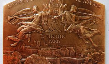 Medaille en bronze d'une compagnie d'assurance vie